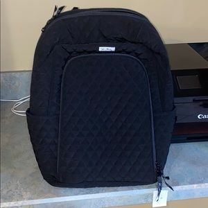 Black quilted Vera Bradley backpack